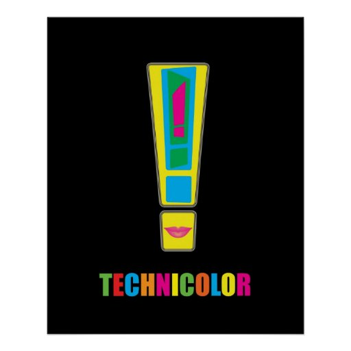 Life Live Technicolor Poster