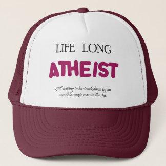 Life lone atheist. trucker hat