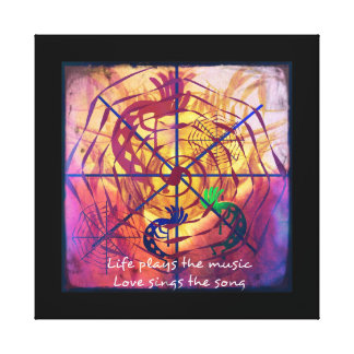 Life & Love Dream Catcher Canvas Print
