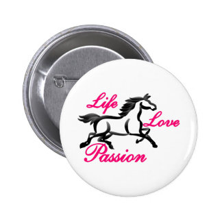 Life, Love, Passion 2 Inch Round Button
