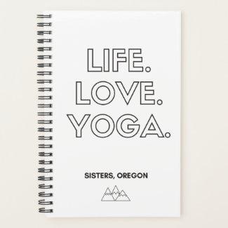 Life.Love.Yoga. Spiral Notebook