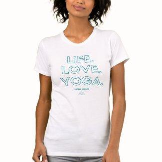 Life.Love.Yoga. Womens T-Shirt - Teal