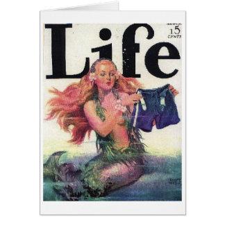 Life Magazine Mermaid Card