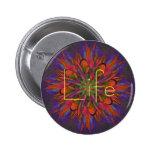 Life Mandala Pinback Buttons