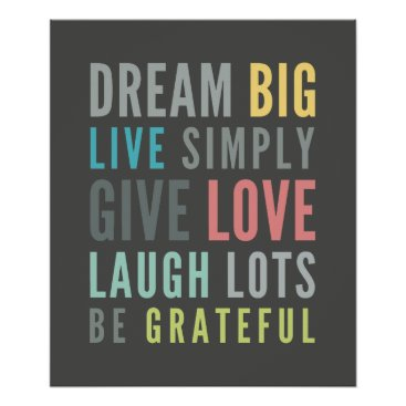 simplysweetPAPERIE LIFE MANTRA positive cool typography pastel colors Poster