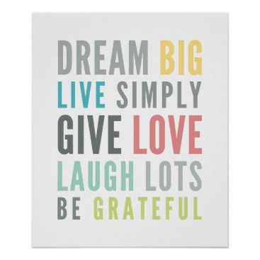 simplysweetPAPERIE LIFE MANTRA QUOTE positive typography pastel color Poster
