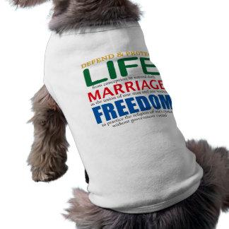 Life, Marriage, Freedom Doggie Tee