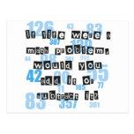 Life & Math Postcard