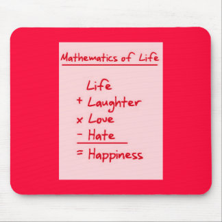 LIFE MATHMATICES QUOTES CUTE TRUISMS POSITIVE OUTL MOUSE PADS