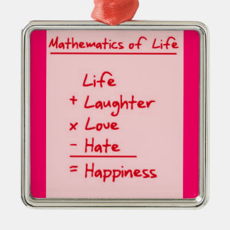 LIFE MATHMATICES QUOTES CUTE TRUISMS POSITIVE OUTL CHRISTMAS TREE ORNAMENT
