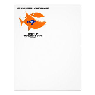 Life Mergers & Acquisitions World Turducken Fish Letterhead Design
