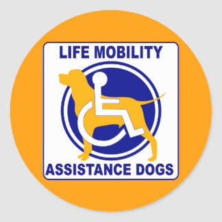 LIFE MOBILITY ASSISTANCE DOGS STICKERS