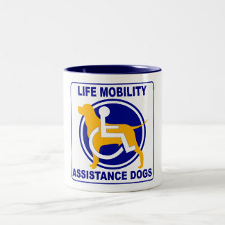 LIFE MOBILITY ASSISTANCE DOGS Two-Tone COFFEE MUG