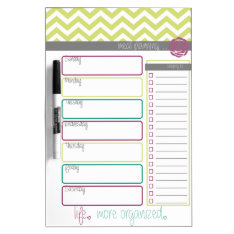 Life. More Organized. Meal Plan Dry Erase Board at Zazzle