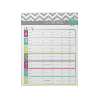 Life. More Organized. Workout Tracker Notepad