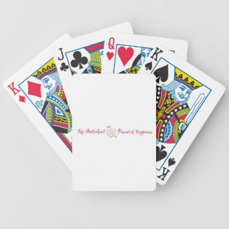 Life, Motherhood, Happiness logo Bicycle Playing Cards