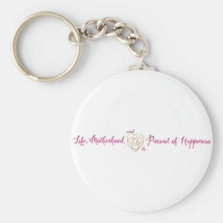 Life Motherhood Happiness Logo Keychain
