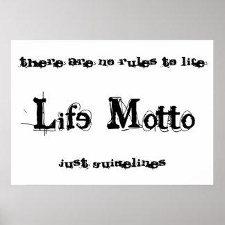 Life Motto poster