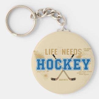 Life Needs Hockey Keychain