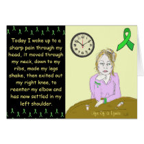 Life of a Lymie Lyme Disease Sick Lady Cartoon Card