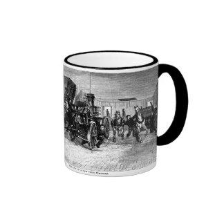 Life of a New York Fireman 1877 print Ringer Mug