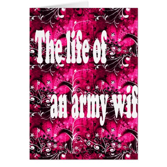 life of an army wife card