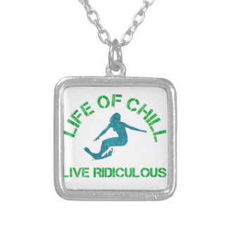 life of chill silver plated necklace