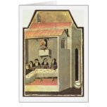 Life Of Holy Humility Detail By Pietro Lorenzetti Greeting Cards