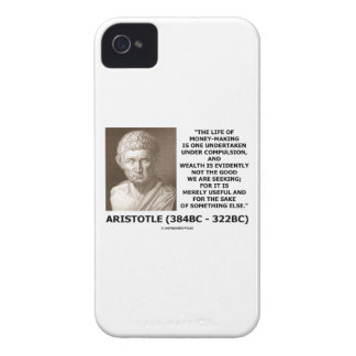 Life Of Money-Making Compulsion Wealth (Aristotle) iPhone 4 Case-Mate Case
