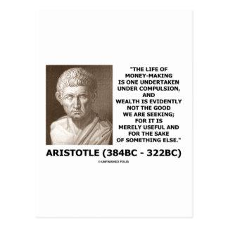 Life Of Money-Making Compulsion Wealth (Aristotle) Post Cards