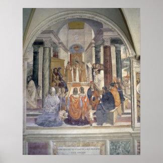 Life of St. Benedict (fresco) (detail) Poster