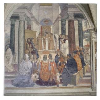 Life of St. Benedict (fresco) (detail) Tile