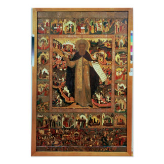 Life of St. Sergius of Radonesh, 1640s Poster
