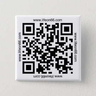 Life On 66 Button(QR code) Pinback Button