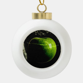 life on the apple ceramic ball christmas ornament