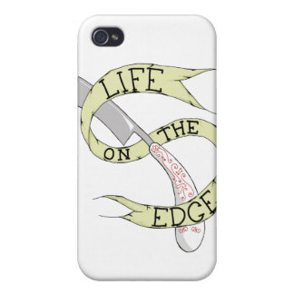Life on the Edge Barbering Razor iPhone Cover Cases For iPhone 4