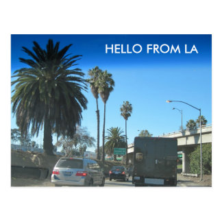 Life on the Los Angeles Freeway Postcard