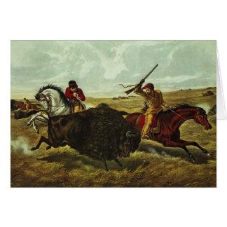 Life on the Prairie - the Buffalo Hunt, 1862 Card