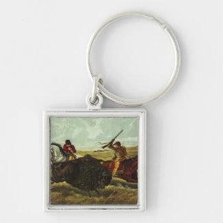 Life on the Prairie - the Buffalo Hunt, 1862 Keychain
