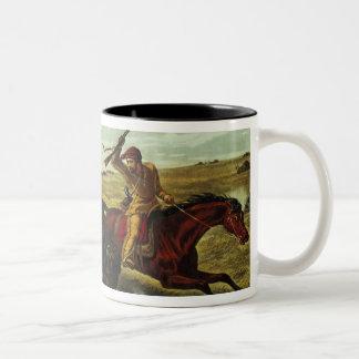 Life on the Prairie - the Buffalo Hunt, 1862 Two-Tone Coffee Mug
