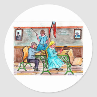 Life On The Stoop Classic Round Sticker