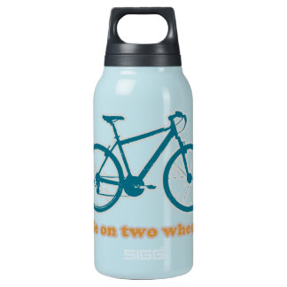 life on wheels - bikes insulated water bottle