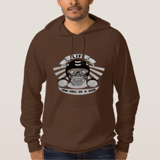 Life One Hell Of A Ride Skull Bikers Graphic Hoodie