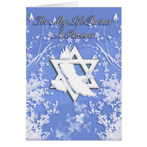 Life Partner - Passover Card With Dove