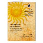 Life Partner's Birthday   Summer Meadow Greeting Card