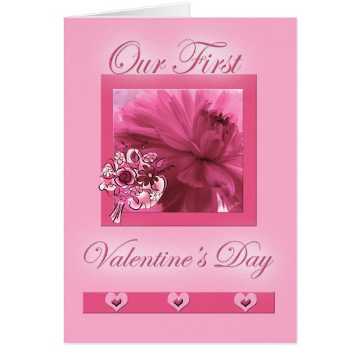 Life Partners First Valentine's Day Pink Daisy Greeting Card