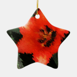 Life Pattern For People Who Live Life Fully Double-Sided Star Ceramic Christmas Ornament