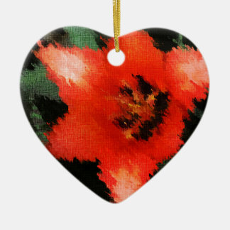 Life Pattern For People Who Live Life Fully Double-Sided Heart Ceramic Christmas Ornament