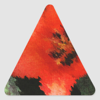 Life Pattern For People Who Live Life Fully Triangle Sticker