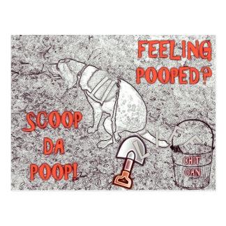 Life Pooper Scooper Postcard